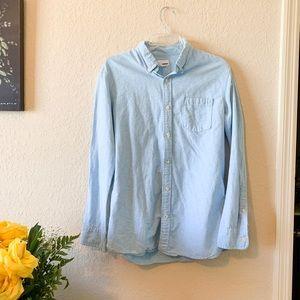 Sonoma Mens Blue Bottom Down Polo Shirt Medium